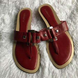 Brand new Liz Claiborne red sandals